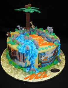 Jungle And The Lion King Birthday Cake B0580 Circo S Pastry Shop