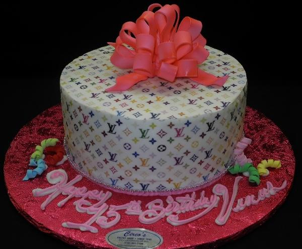 Loui Vuitton Pink Birthday Cake - B0545