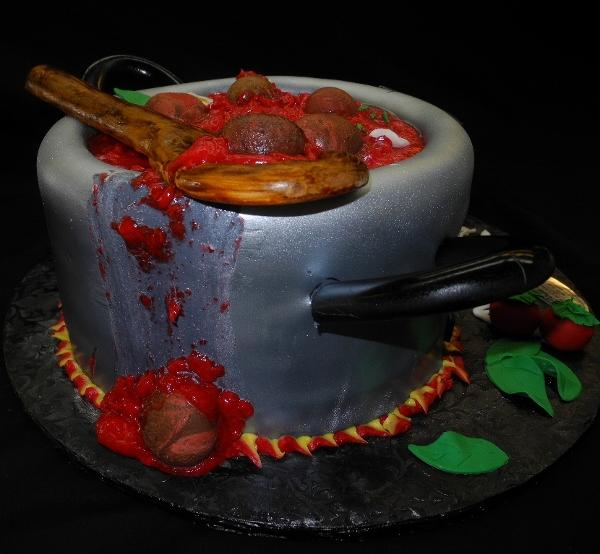 Meatball Pot Birthday Cake - B0068