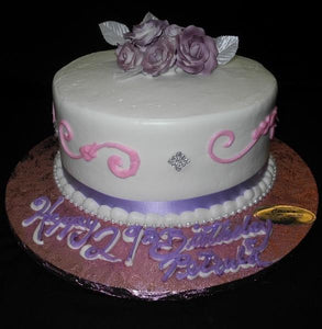 Pink and Lavender Icing Cake - B0445