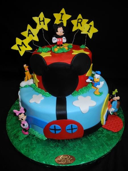 Fondant Birthday Cake Mickey Club House - B0164