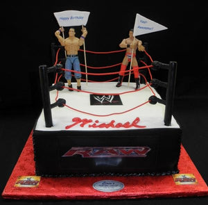 Wresting Ring Birthday Cake - B0239