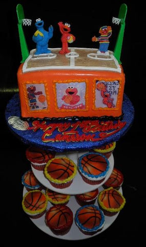 Elmos  Basketball Court Cake - CC081