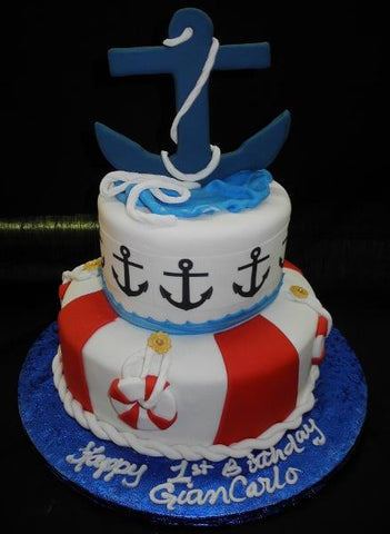 Nautical Birthday Cake - B0040