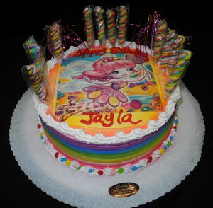 Candy Land Whip Cream Cake - WC0014