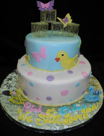 Pink or Blue Baby Shower Cake - BS021