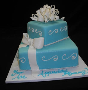 Outstanding Tiffany Blue Off Set Birthday Cake B0284 Circos Pastry Shop Funny Birthday Cards Online Fluifree Goldxyz