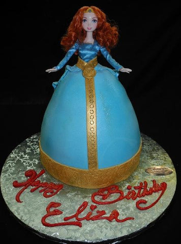 Brave Fondant Doll Birthday Cake - CS0261