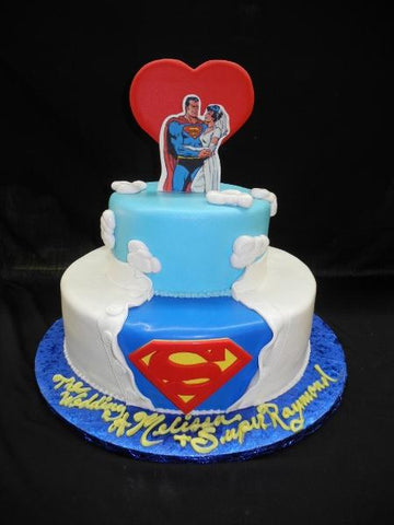 Superman Wedding Cake - W077