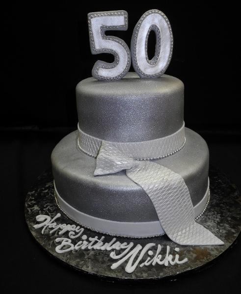 50 Shades of Grey Tier Cake - B0812