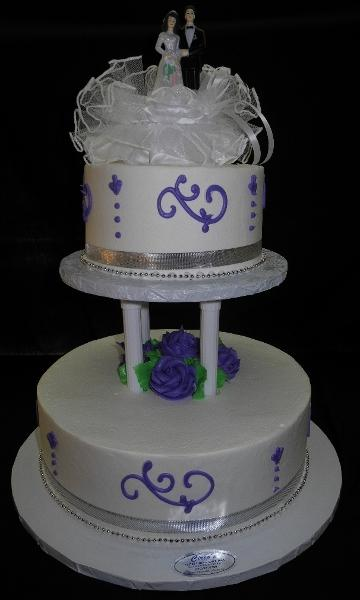Lavender and White Whip Cream Cake - W115