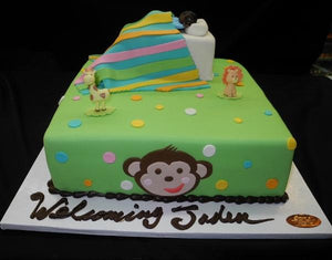 Baby Sleeping Fondant Cake - BS124