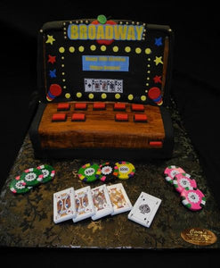 Black Jack Slot Machine Fondant - CS0266