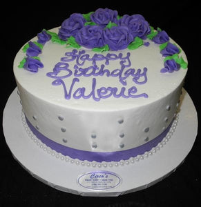 Lavender and White Birthday Cake - B0559