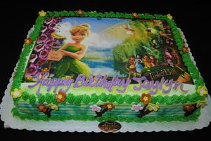 Tinkerbell Edible Picture Cake - B0277