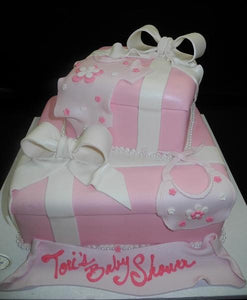 Gift Box Baby Shower Cake - BS187