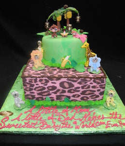 Safari Baby Shower Cake - BS276