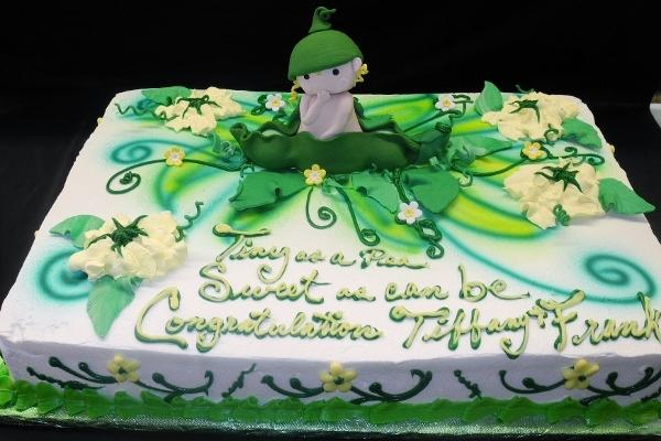 Peas In a Pod Baby Shower Cake - BS237