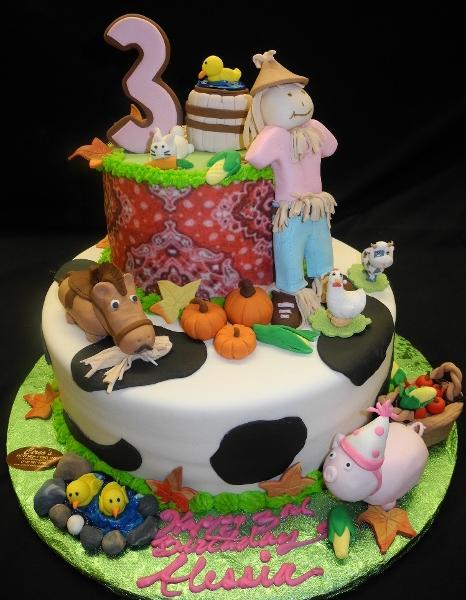 Farm 3rd Birthday Cake - B0649