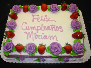 Strawberry Birthday Cake - B0334