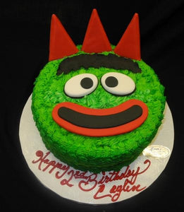 yo gaba gaba, green monster, face