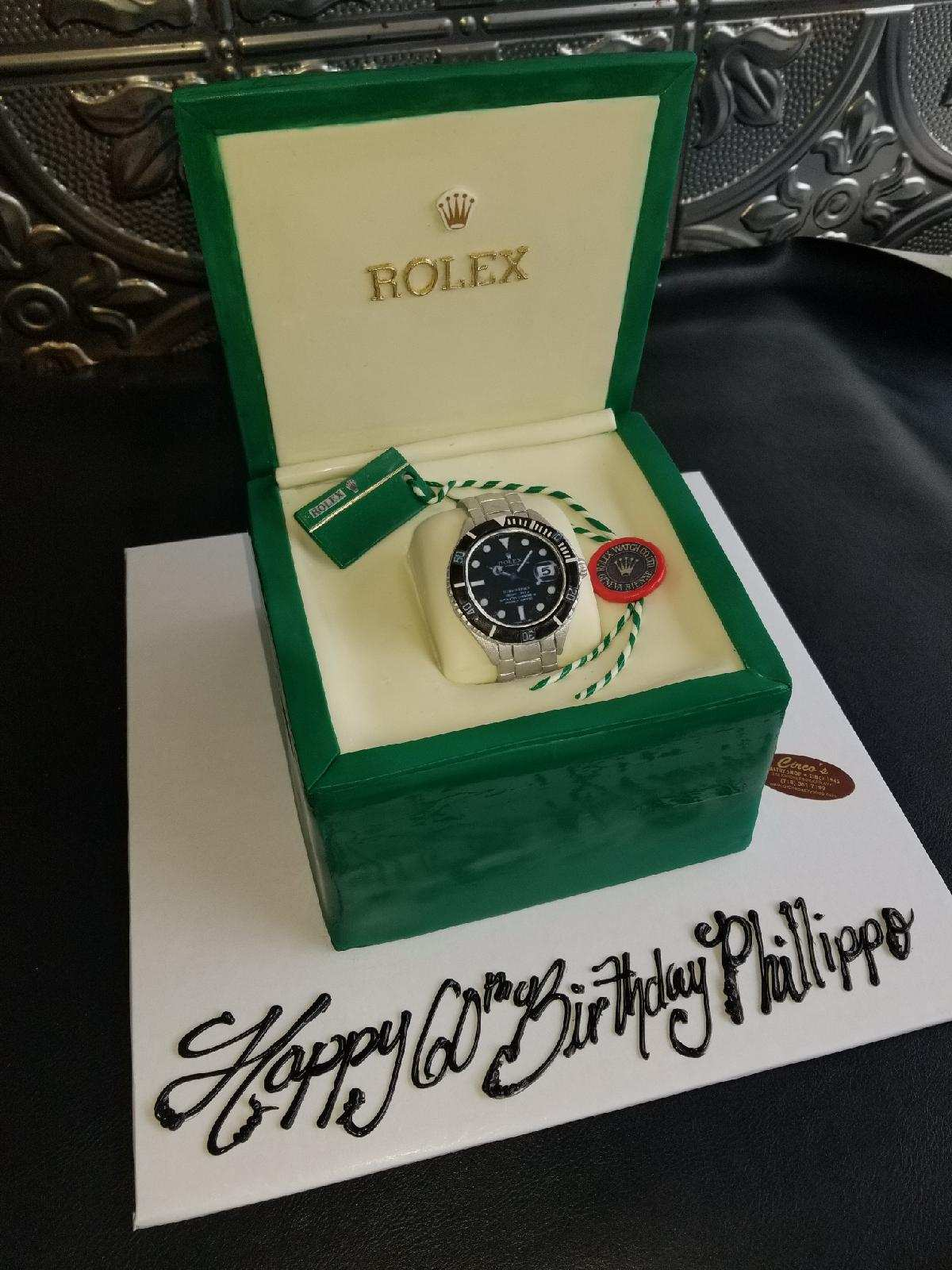 Marvelous Rolex Watch Cake Cs0290 Circos Pastry Shop Personalised Birthday Cards Arneslily Jamesorg