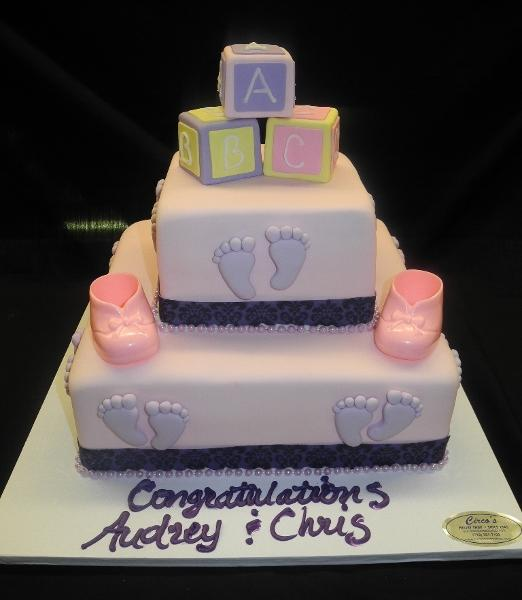 ABC Blocks, Edible Ribbon, Pink, Purple