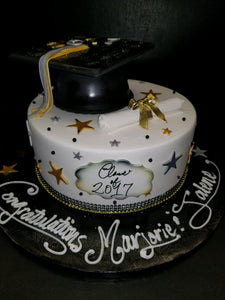 Graduation cake 1 tier CS0292