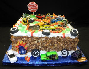 Tremendous Hot Wheels Birthday Cake B0595 Circos Pastry Shop Funny Birthday Cards Online Chimdamsfinfo