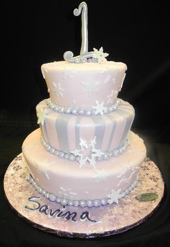 Snowflakes, first birthday, pink, purple, lavender