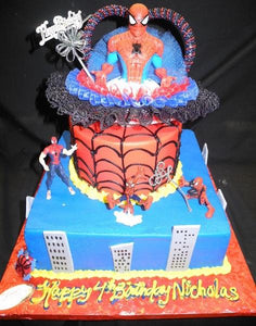 spider man, icing, red