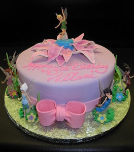 Tinkerbell, Flowers, Pink, Purple,
