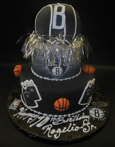 Basketball, black, edible logo,