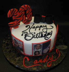 Astounding Red Black And White 30Th Birthday Cake B0391 Circos Pastry Shop Funny Birthday Cards Online Inifodamsfinfo