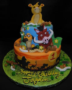 Lion King 1st Birthday Cake B0841 Circo S Pastry Shop
