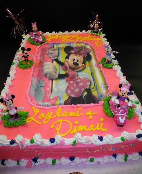 edible image, minnie mouse, whip cream, full sheet