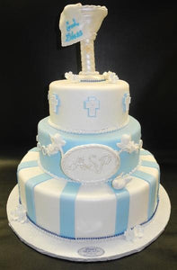Fountain, light blue, christening
