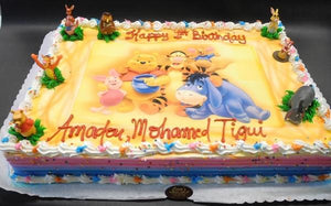 whip cream, edible picture, winnie the pooh,