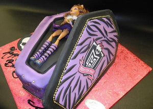 monster high, coffin, doll, purple