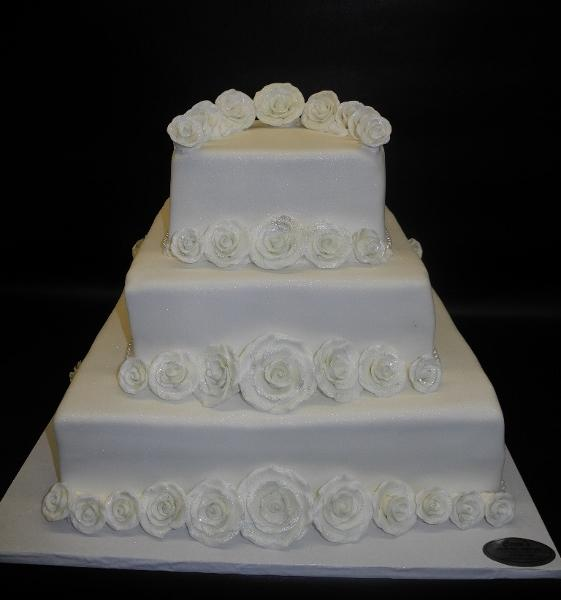 sugar flowers, roses, square, wedding,