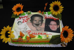 Photo cake. sunflower, edible image,