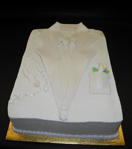 Communion Shirt Cake With Fondant Flowers to decorate - R021