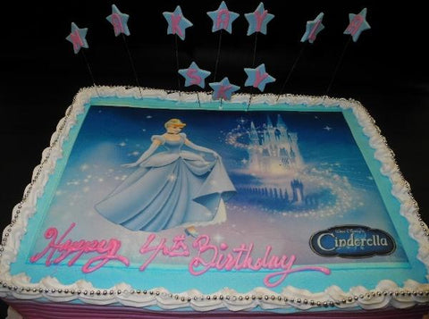 Photo cake. princess, stars, edible image,