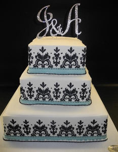 Damask Black, White, and Tiffany Blue Wedding