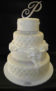 Diamond Ivory Wedding Fondant Cake