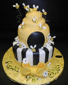 bee, black, gold,