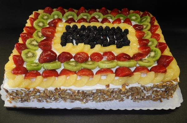 Fruit Supreme Whip Cream Birthday Cake