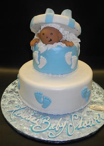 Baby Popping Out Baby Shower Cake