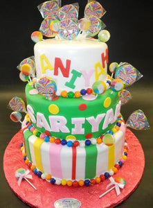 Candy Land Fondant Birthday Theme Cake
