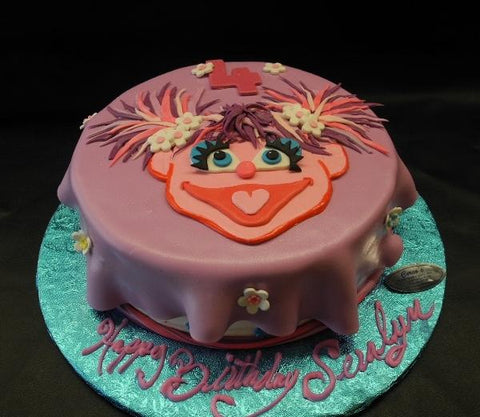 Abby Cadabby Fondant Cake with Fondant Flowers